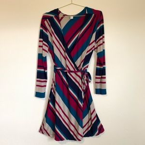 Old Navy Wrap Dress Stripes Size XL